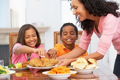 Family Dinner Reduces Childhood Obesity